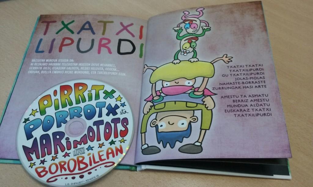 Txatxilipurdi izeneko kanta Pirritx, Porrotx eta Marimototsen azken disko liburuan